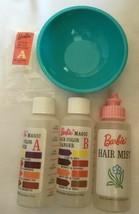Vintage 1965 Barbie Color 'n Curl Blue Bowl Color Magic Pieces  243-26 - $25.00