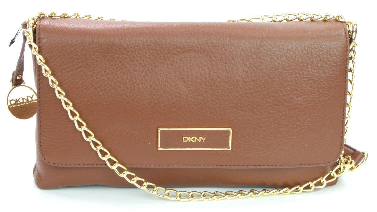 DKNY Donna Karan Brown Leather Shoulder Bag Handbag Small RRP £225