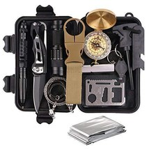 Survival Gear Kits 13 in 1- Outdoor Emergency SOS Survive Tool for Wilde... - $48.81