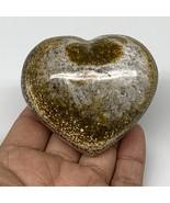 "196.5g, 2.4""x2.8""x1.4"" Ocean Jasper Heart Polished Healing Crystal, B4940 - $22.17"