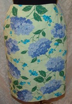Talbots Straight Pencil Skirt 8 Womens Floral Hydrangea Flowers - $18.78