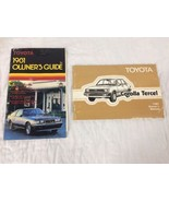 1981 Toyota Corolla Tercel Owners Manual And Owners Guide - $16.23