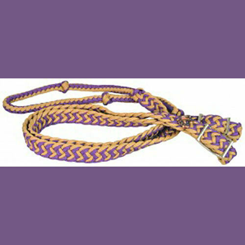 Poly Barrel Reins - Purple and Tan - NEW!