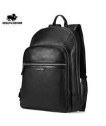 BisonDenim® Genuine Leather Laptop Backpack Male Kanken Backpack Travel ... - $112.12