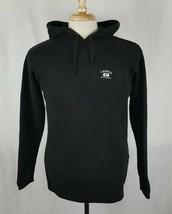 Lauren Ralph Lauren Hooded Pullover Sweater Sz M Knit Cotton Black L/S Hoodie 67 - $19.94
