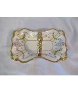 Limoges P and P France Porcelain Handled Dish, Basket c.1908 - Roses, Go... - $19.99