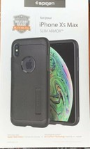 Spigen Slim Armor Case for Apple iPhone Xs Max - Black (NEW IN RETAIL PA... - $19.39