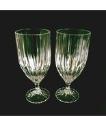 2 (Two) MIKASA PARK LANE Cut Lead Crystal Ice Tea Goblets Glasses DISCON... - $61.74