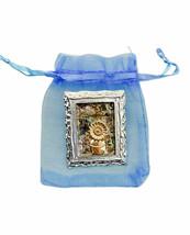 Van Gogh Inspired Framed Flower Abalone Brooch Pin Costume Jewelry Gift Bag - $11.54