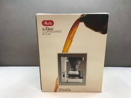 Vintage MELITTA 4s ELAN Coffee MAKER Original BOX Never Used UNTESTED - $49.49