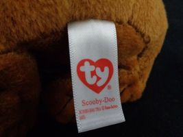 "Scooby Doo Where Are You TY Plush Stuffed Animal beanie Baby 7"" Brown Dog image 6"
