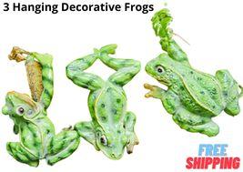 Bonsai Decor Figurine Frog Outdoor Garden Flowerpot Hanging Indoor Anima... - $28.99