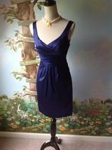 Jones New York Petite Women's Satin Purple Sleeveless Dress Size 2 Petite  - $35.64