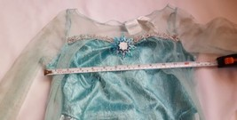 Disney Frozen Girls Elsa dress up costume size M 7-8 girls pre-owned w defects - $13.09