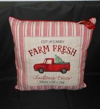 St Nicholas Christmas Farm Fresh Trees Decorative Throw Pillow NWT FREE SHIPPING - $39.59