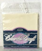 Charles Craft 22 Count Hardanger Cross Stitch Cotton Fabric Ivory Cotton... - $5.65