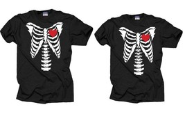 Couple Matching T-shirts Halloween Costume T-Shirt Skeleton Tees Family ... - $35.99
