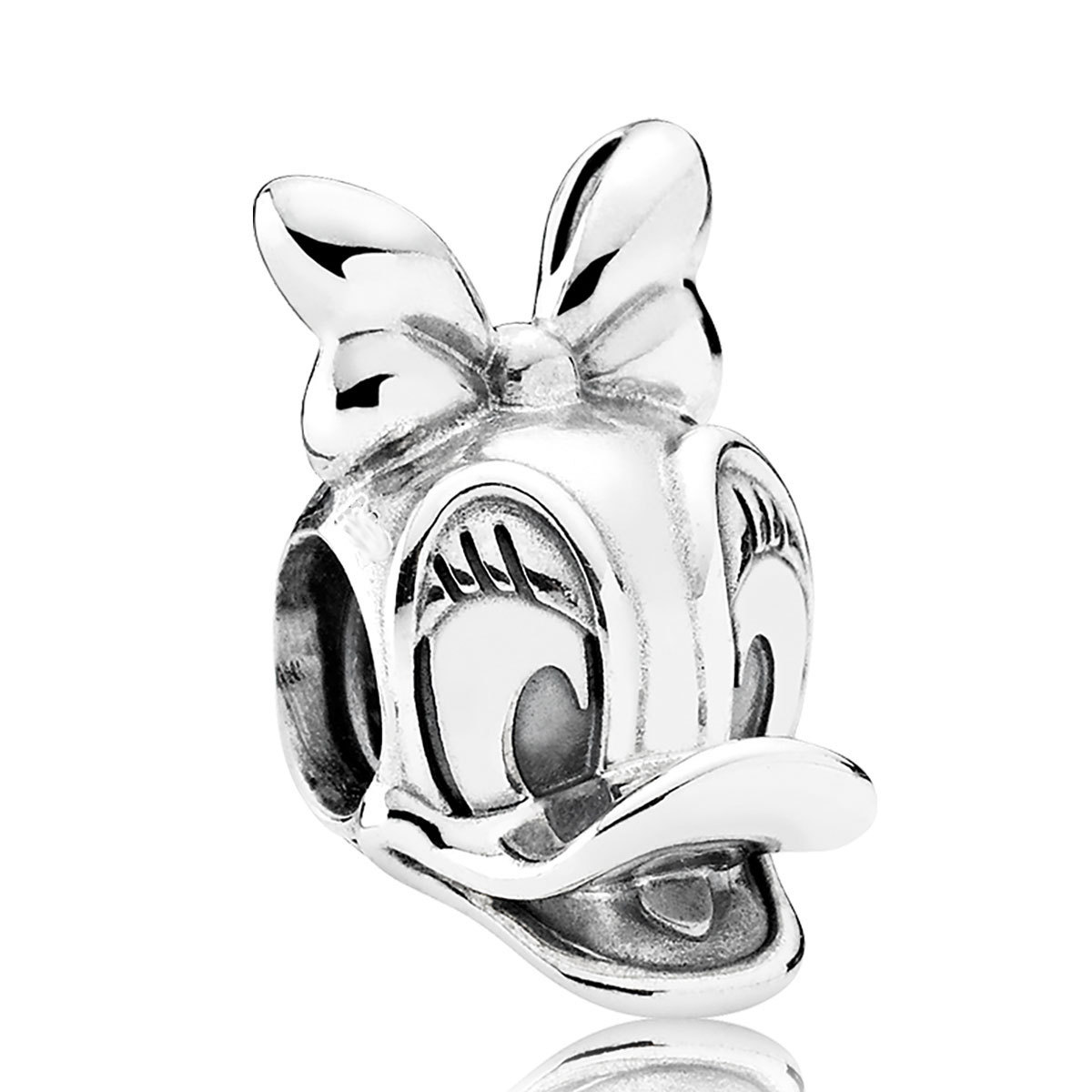 925 Sterling Silver Disney Daisy Duck Portrait Charm Bead Fit Pandora QJCB1162 for sale  USA