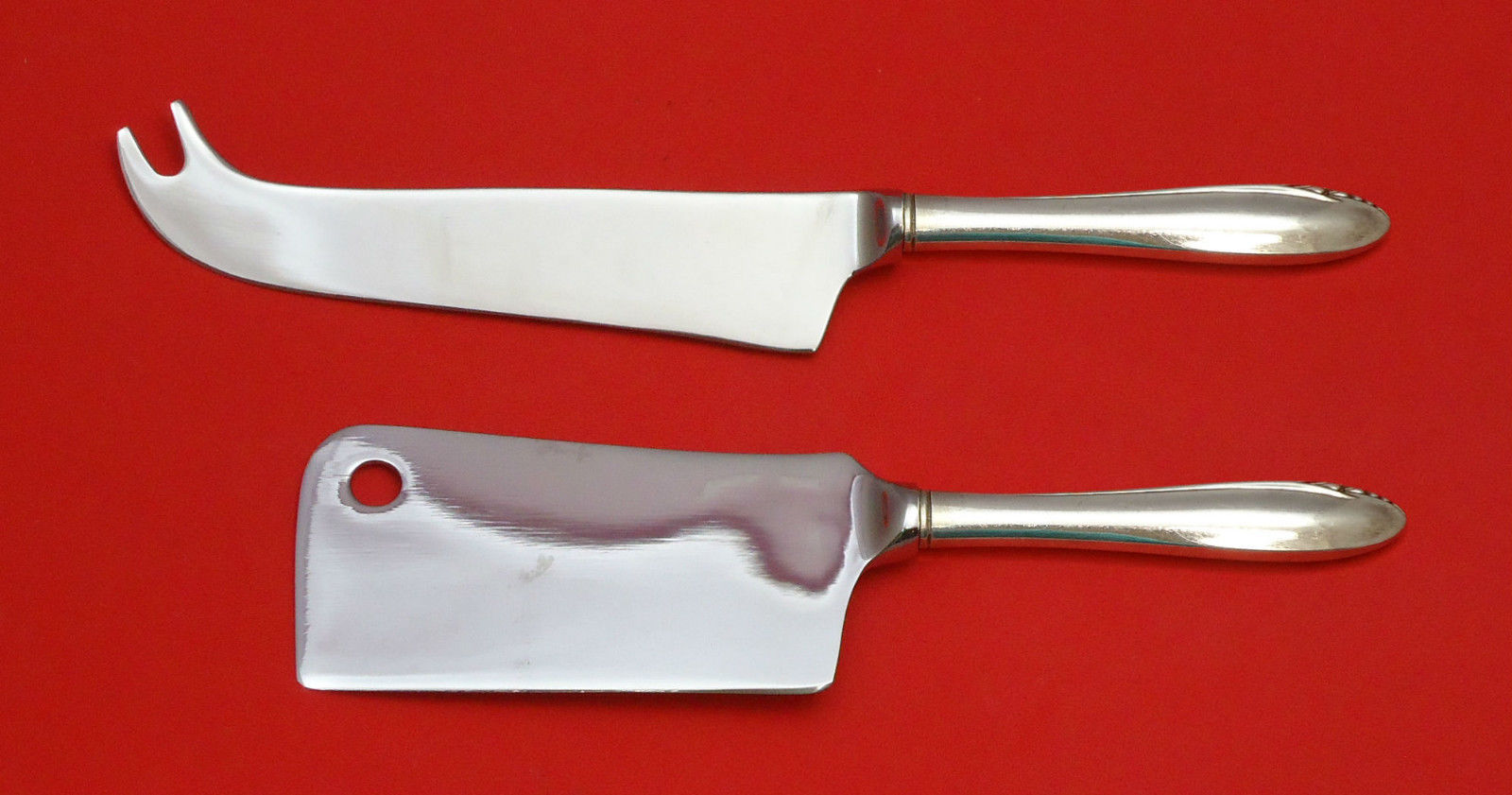 Primary image for Lasting Spring by Oneida Sterling Silver Cheese Srvr Serving Set 2P HHWS  Custom