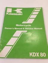 Kawasaki KDX80 Motorcycle Owner's & Service Manual 99920-1293-01 - $10.99
