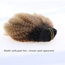 Caliee Afro Kinky Curly Clip in Hair Extension Human Hair Double Weft Unprocesse image 3