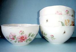 Martha Stewart Martha's Garden 4 PC. All Purpose Cereal Bowl Wedgwood Ne... - $99.90