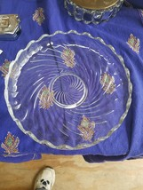 VINTAGE FOSTORIA GLASS  - COLONY PATTERN - 11 INCH SHALLOW BOWL/PLATTER - $18.46