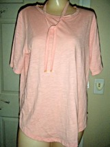 Nwt Michael Kors Peach Short Sleeve Scoop Neck Top Size M $79.50 - $38.69