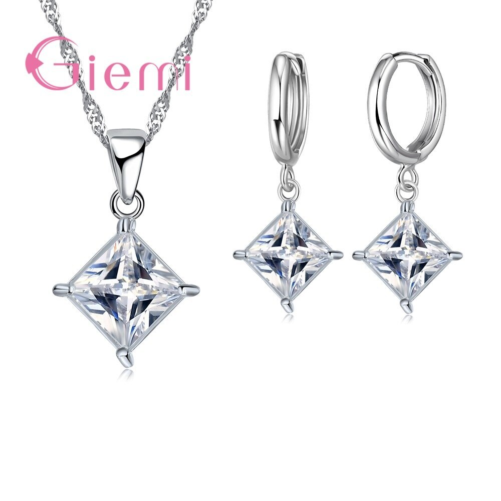 Primary image for Classic Geomantic Elegant Women Jewelry Sets All Color AAA+ CZ   Silver Ladies P