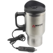 Wagan Tech 12-volt Deluxe Double-wall Stainless Steel Heated Travel Mug ... - $20.99