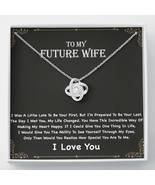 To My Future Wife Necklace, Engagement Gift for Future Wife, Birthday Gift - $39.99