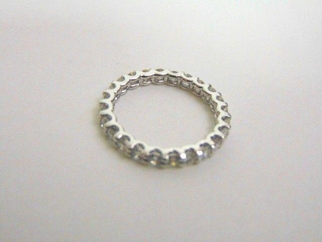 Women's 14K White Gold Diamond Eternity Ring 2.1g E3514
