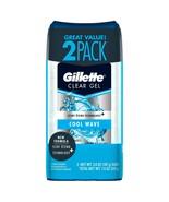 2 pack Gillette Advanced 48H Clear Gel 5-in-1 Antiperspirant Deodorant C... - $13.10