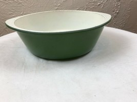 Glasbake Green Casserole and Cover Teflon Coated - $12.16
