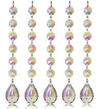 5Pcs Hanging Chandelier Crystal Suncatcher Prisms Rainbow Drops Pendants 76mm - $15.45