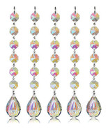 5Pcs Hanging Chandelier Crystal Suncatcher Prisms Rainbow Drops Pendants 76mm - $15.45