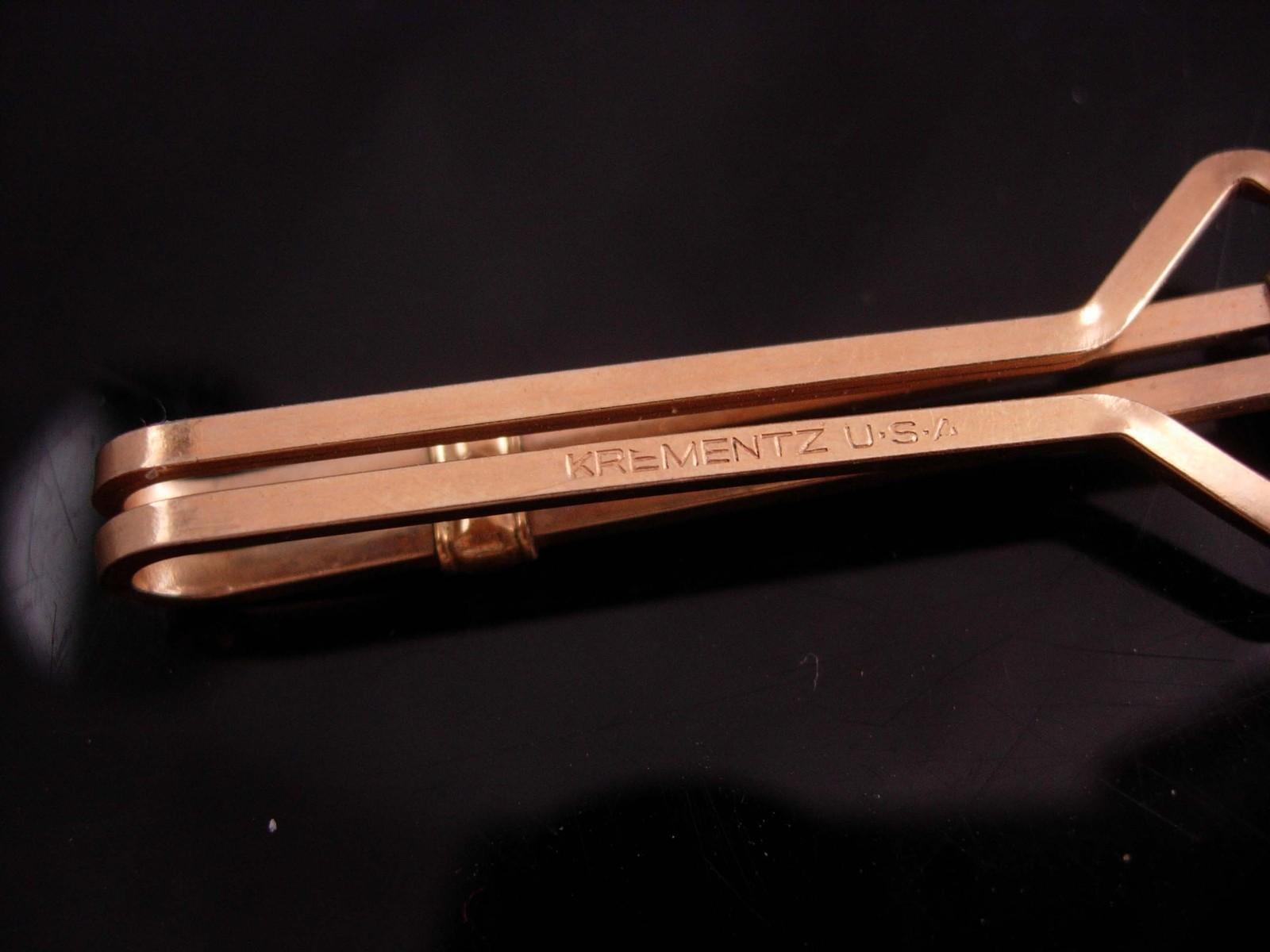 257463cf08bb Art Deco chrysoprase Tie Clip Vintage Designer Jewels Gold Krementz money  clip
