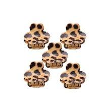 5Pcs Lovely Leopard Mini Fringe Bangs Clips Hair Styling Claws, Khaki - $11.51