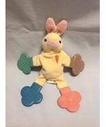 Munchkin Teether Babies Yellow Bunny Rabbit Orange Carrot Rattle Baby To... - $8.99