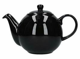 London Pottery - Tetera con colador, cerámica, Color Negro Brillante, 4 ... - $40.34