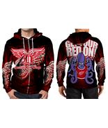 NEW !! Detroit Red Wings Men's Zipper Hoodie - $47.99+