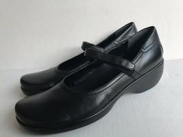 Easy Spirit Womens Eslolynn Leather Mary Jane Shoes Black Sz 9N - $27.77