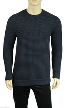 NEW MENS CALVIN KLEIN CREW NECK BLACK 100% COTTON PULLOVER SWEATER L $98 - $29.99