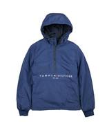 Tommy Hilfiger Men's Half Zip Navy Hooded Windbreaker Jacket - $89.99