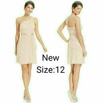 NWT Sz.12 Adrianna Papelle Blush One-Shoulder Short Dress. - $45.00