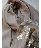 Sequence work 100% cotton scarf shawl neck wrap quality+1 pc complementa... - $40.87