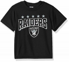 NFL Oakland Raiders T-Shirt Logo on Black Short Sleeve Size 2T Youth Gerber - $17.95