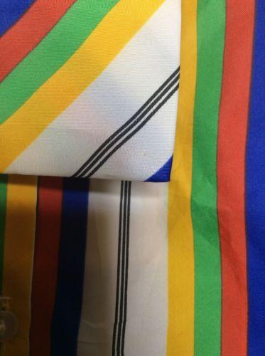 Vintage COLLEGIAN of CALIFORNIA Multi Stripes Long Sleeve Top Blouse SZ 5 6 M