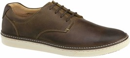 Johnston & Murphy Mens Tan Oiled Full Grain Leather McGuffey Plain Toe Shoe 11.5