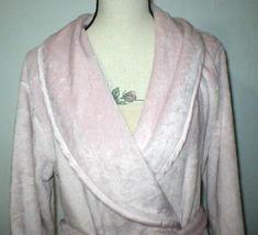NWT New Natori Pink Faux Fur Robe Womens Long Very Soft Pockets M Dusty Rose Lus image 3
